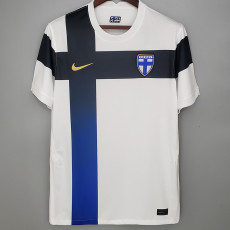 2020 Finland Home 1:1 White Fans Soccer Jersey