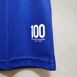 21-22  Alaves Commemorative Edition Blue Fans Soccer Jersey