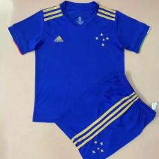 21-22 Cruzeiro Home Kids Soccer Jersey