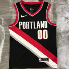 Trail Blazers ANTHONY #00 Black Top Quality Hot Pressing NBA Jersey