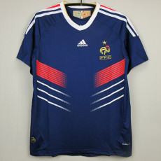 2010 France Home Retro Soccer Jersey