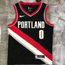 Trail Blazers LILLARD #0 Black Top Quality Hot Pressing NBA Jersey