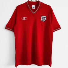 1984-1987 England Away Retro Soccer Jersey