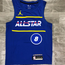 2021 ALL STAR LAVINE #8 Blue Top Quality Hot Pressing NBA Jersey