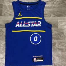 2021 ALL STAR TATUM #0 Blue Top Quality Hot Pressing NBA Jersey