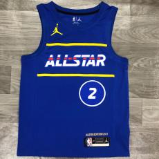 2021 ALL STAR LEONARD #2 Blue Top Quality Hot Pressing NBA Jersey