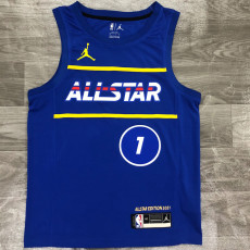 2021 ALL STAR WILLIAMSON #1 Blue Top Quality Hot Pressing NBA Jersey