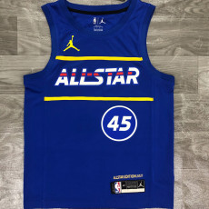 2021 ALL STAR MITCHELL #45 Blue Top Quality Hot Pressing NBA Jersey