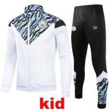 21-22 Man City White Kids Jacket Tracksuit (童装)