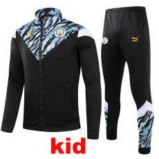 21-22 Man City Black Kids Jacket Tracksuit (童装)