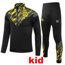 21-22 Dortmund Black Kids Jacket Tracksuit (童装)