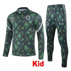 20-21 Nigeria Green Kids Half Pull Sweater Tracksuit (童装)