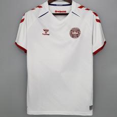 2020 Denmark 1:1 Away White Fans Soccer Jersey