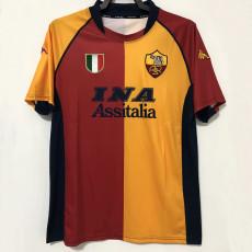 2000-2001 Roma Home Retro Soccer Jersey