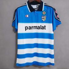 1999-2000 Parma Away Blue Retro Soccer Jersey