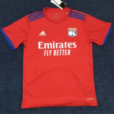 20-21 Lyon Red Fans Soccer Jersey