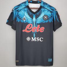 2021 Napoli NAPOLES MARCELO BURLON LIMITED EDITION Black Fans Soccer Jersey