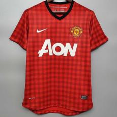 2012-2013  Man Utd Home Retro Soccer Jersey