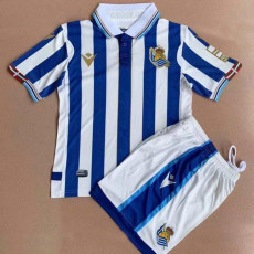 2021 2021 Real Sociedad Special Edition Kids Soccer Jersey