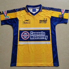 1990 Tigres UANL Yellow Retro Soccer Jersey