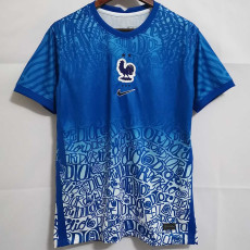 21-22 France Special Version Blue training jersey