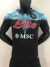 2021 Napoli NAPOLES MARCELO BURLON LIMITED EDITION Black Player Version Soccer Jersey