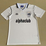 2001 Santos FC Home White Retro Soccer Jersey