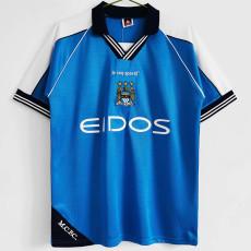 1999-2001 Man City Home Retro Soccer Jersey