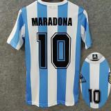 MARADONA #10 Argentina Home Retro Soccer Jersey 1986