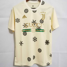 2021 JUV GUCCI Yellow Joint Edition Fans Soccer Jersey
