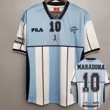 MARADONA 10#  Argentina Home Retro Soccer Jersey 2001