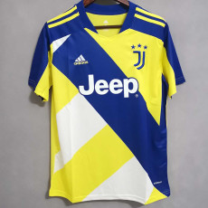 2021 JUV Concept Edition Yellow And Blue Fans Soccer Jersey