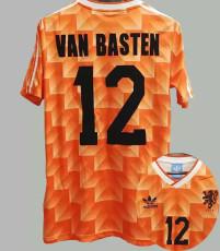 1988 VAN BASTEN # 12 Netherlands Home Retro Soccer Jersey