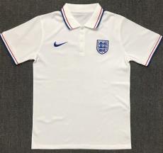 21-22 England White Polo Short Jersey