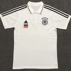 21-22 Germany White Polo Short Jersey