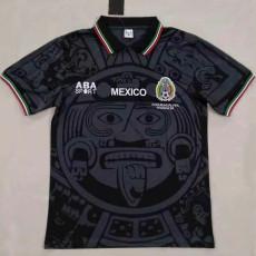 1998 Mexico Black Retro Soccer Jersey