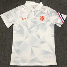 21-22 Netherlands White Polo Short Jersey