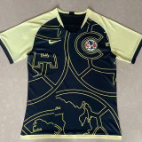 21-22 Club America Black Yellow Special Edition Fans Soccer Jersey