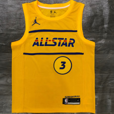 2021 ALL STAR PAUL # 3 Yellow Top Quality Hot Pressing NBA Jersey