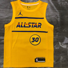 2021 ALL STAR CURRY # 30 Yellow Top Quality Hot Pressing NBA Jersey