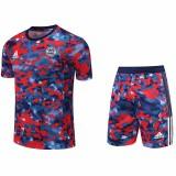 21-22 Bayern Red  Blue BlackTraining Short Suit(短裤拉链口袋)