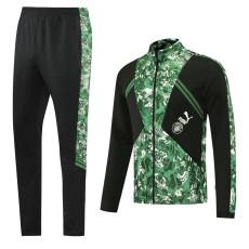 21-22 Man City Green Black Jacket Tracksuit