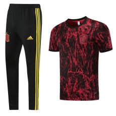 21-22 Spain Red Short-sleeved Trouser Suit