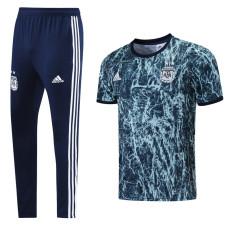 21-22 Argentina Grey blue Short-sleeved Trouser Suit