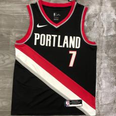 Trail Blazers ROY #7 Black Top Quality Hot Pressing NBA Jersey