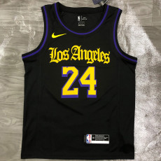 Lakers BRYANT # 24 Black Top Quality Hot Pressing NBA Jersey