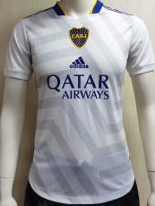 21-22 Boca Juniors White Player Version Soccer Jersey