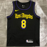 Lakers BRYANT #8 Black Top Quality Hot Pressing NBA Jersey