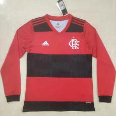 21-22 Flamengo Home Long Sleeve Soccer Jersey