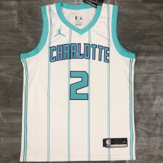 New Hornets BALL #2 White Top Quality Hot Pressing NBA Jersey